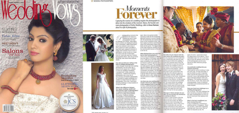 We are in Wedding Wows September 2013.