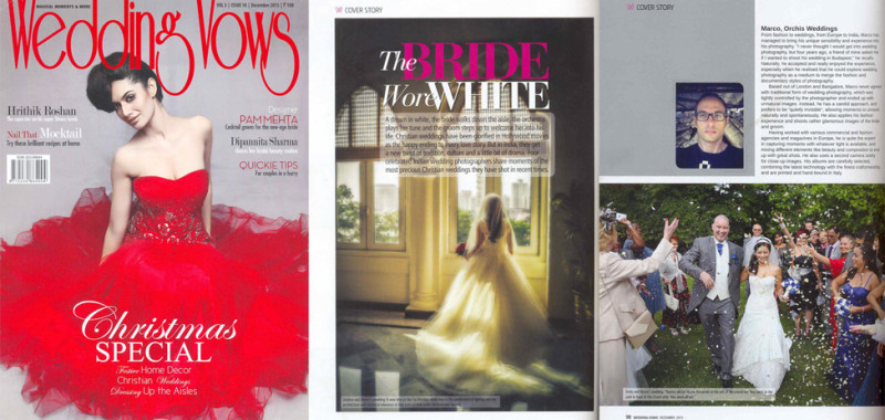 Featured in Wedding Wows magazine December 2013 issue.